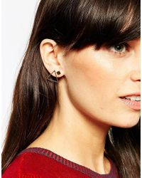 ASOS - Metallic Cube & Triangle Stud Earring Pack - Lyst