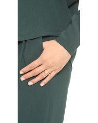 Sarah Chloe | Metallic Diamond Organic Mirror Ring Cleargold | Lyst