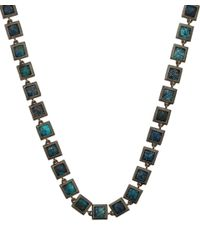 Nak Armstrong - Metallic Sterling Silver Chrysocolla Mosaic Necklace - Lyst