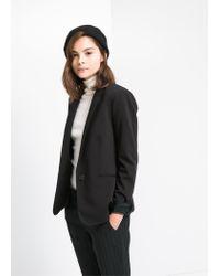 Mango - Black Suit Blazer - Lyst