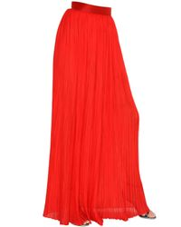 Michael Lo Sordo | Red Rose Plisse Maxi Skirt | Lyst
