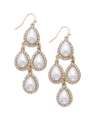 INC International Concepts - Metallic Teardrop Chandelier Earrings, Only At Macy's - Lyst