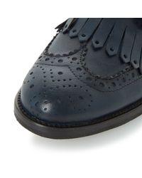 Dune | Blue Fabia Monk Shoes | Lyst