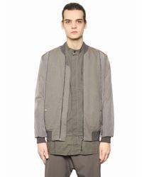 Silent - Damir Doma   Natural Nylon & Light Gabardine Bomber Jacket for Men   Lyst