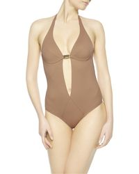 La Perla | Brown Underwired One-piece | Lyst