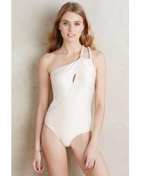 Agua de Coco | White One-shoulder One-piece | Lyst