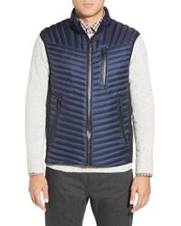 Tumi | Blue 'on The Go' Quilted Down Vest for Men | Lyst
