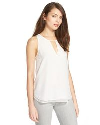 Trouvé | White Double Layer Split Back Tank | Lyst