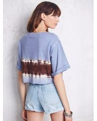 Free People - Multicolor We The Free Womens We The Free Washed Hem Tee - Lyst