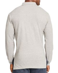 Polo Ralph Lauren | Gray Long-sleeved Classic-fit Mesh Polo Shirt for Men | Lyst