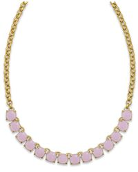 kate spade new york | Purple Gold-tone Lilac Stone Frontal Necklace | Lyst