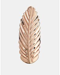 ASOS | Metallic Long Leaf Ring | Lyst