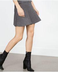 Zara | Gray Skater Skirt | Lyst