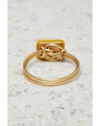 Forever 21 | Yellow Janes Tiny Things Grilled Cheese Midi Ring | Lyst