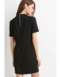 Forever 21 - Black Textured Stripe Shiftr Dress - Lyst