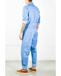 YMC | Blue Chambray Jumpsuit for Men | Lyst
