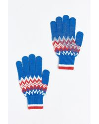 Urban Outfitters | Blue Fair Isle Touchscreen Glove for Men | Lyst