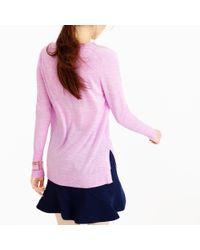 J.Crew - Pink Merino Wool V-neck Tunic Sweater - Lyst