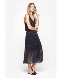 Raquel Allegra - Blue Pleated Skirt - Lyst