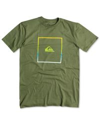 Quiksilver | Green Logo Graphic T-shirt for Men | Lyst