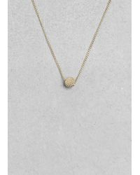 & Other Stories | Metallic Small Disco Ball Necklace | Lyst
