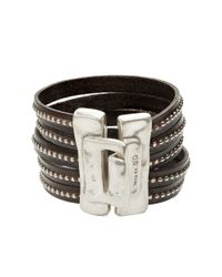 Uno De 50 | Metallic Planted Leather Cuff Bracelet | Lyst