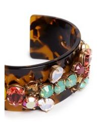 J.Crew | Multicolor Crystal Cuff Bracelet | Lyst