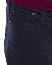 Jaeger - Blue Moleskin Five Pocket Trousers for Men - Lyst