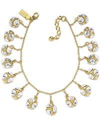 kate spade new york - Multicolor New York Goldtone Crystal Ball Charm Bracelet - Lyst