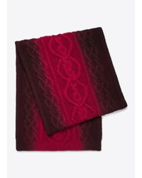 Vince - Red Wool Cashmere Cable Knit Dégradé Scarf for Men - Lyst