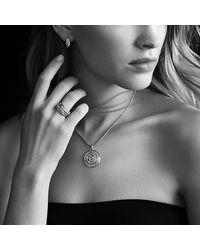 David Yurman   Metallic Labyrinth Huggie Earrings With Diamonds In 18k Gold   Lyst