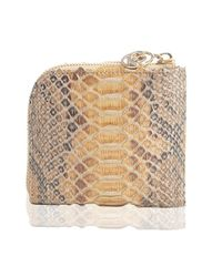 Nada Sawaya | Natural Medium Zip Around Python Wallet | Lyst