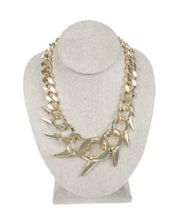 Nicole Miller - Metallic Fin Oversized Collar Necklace - Lyst