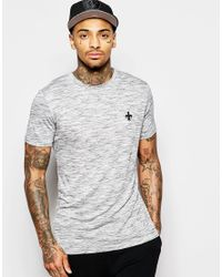 Criminal Damage | Gray Jimmy T-shirt In Nep for Men | Lyst