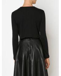 Comme Des Garçons Noir Kei Ninomiya - Black Asymmetric Hem Longsleeve T-shirt - Lyst
