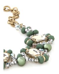 ModCloth - Green Working Shine To Five Necklace - Lyst