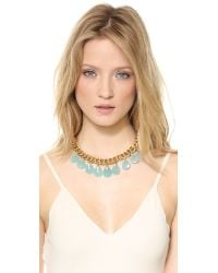 Juicy Couture - Blue Large Stone Drama Necklace Gold - Lyst