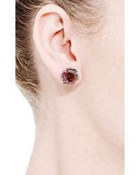 Jemma Wynne | Multicolor One Of A Kind Watermelon Tourmaline and Diamond Stud Earrings | Lyst
