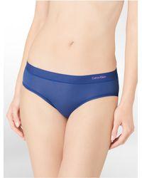 Calvin Klein - Blue Second Skin Cut + Sew Hipster - Lyst