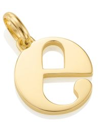 Monica Vinader | Metallic Gold-plated Alphabet Pendant E | Lyst
