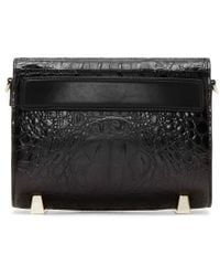 Alexander Wang - Black Croc_embossed Mini Chastity Shoulder Bag - Lyst