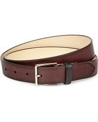 Paul Smith - Brown Burnished Leather Belt for Men - Lyst