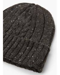Mango - Gray Wool-blend Beanie for Men - Lyst