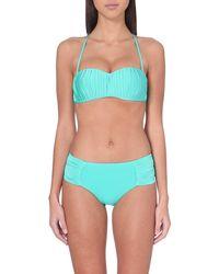 Seafolly | Blue Goddess Kiara Bustier Bikini Top | Lyst
