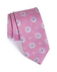 John W. Nordstrom | Purple 'aguero' Medallion Silk Tie for Men | Lyst