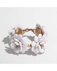 J.Crew - White Factory Bloom Bracelet - Lyst