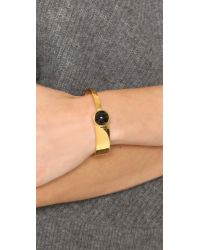 Marc By Marc Jacobs | Black Cabochon Mixed Cuff Bracelet | Lyst