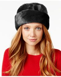 Nine West | Black Faux Fur Cuff Cloche | Lyst