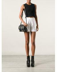 Rebecca Minkoff - Black Buckle Front Shoulder Bag - Lyst
