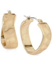 Robert Lee Morris | Metallic Gold-tone Wavy Hoop Earrings | Lyst